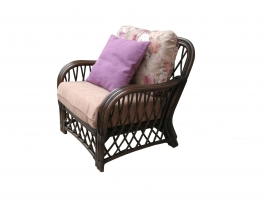 Кресло Феофания CRUZO натуральный ротанг, темно-коричневый, fl0679