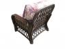 Крісло Феофанія CRUZO натуральний ротанг, темно-коричневий, fl0679