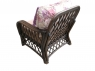Кресло Феофания CRUZO натуральный ротанг темно-коричневый fl0679
