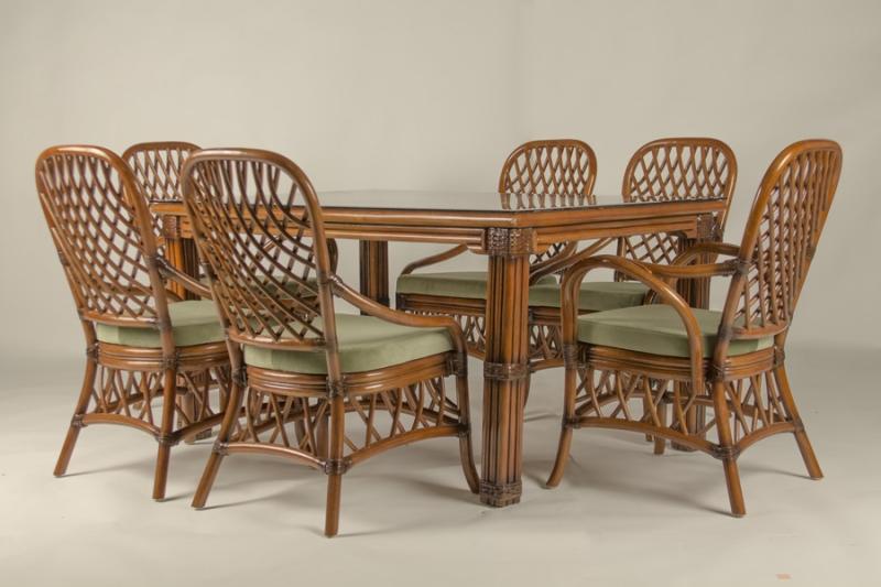 Обідній комплект CRUZO Феофанія Преміум (стіл +6 стільців) горіховий ok0011