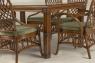 Обеденный комплект CRUZO Феофания Премиум (стол +6 стульев), ореховый, ok0011