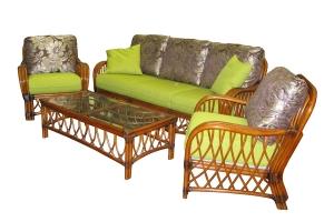 Комплект мебели Феофания CRUZO натуральный ротанг, ореховый, d0004
