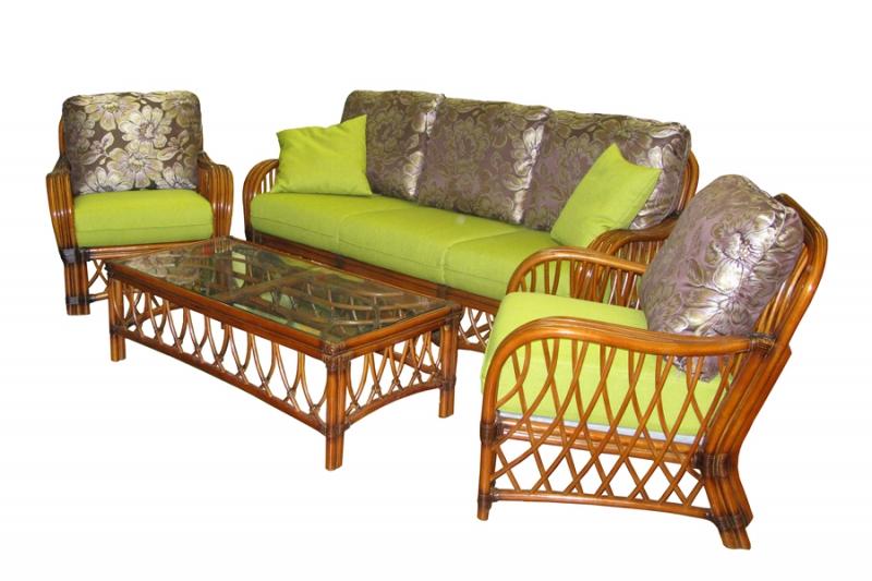 Комплект меблів Феофанія CRUZO натуральний ротанг, горіховий, d0004