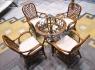 Обеденный комплект CRUZO Феофания Классик (стол +4 кресла), ореховый, ok0008