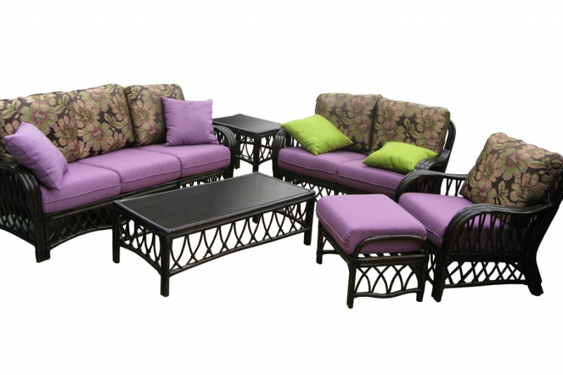 Комплект мебели CRUZO Феофания Премиум натуральный ротанг ореховый d0027