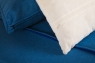 Модульный диван с пуфом Фьорд CRUZO дерево / водный гиацинт, синий, d0015
