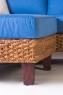 Модульный диван с пуфом CRUZO Фйорд дерево / водный гиацинт синий d0015