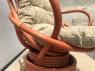 Кресло-качалка Флора из натурального ротанга на пружинном блоке терракотового цвета CRUZO kk1506