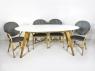 Обідній стіл Ай CRUZO (на 6 персон), тик, білий, st0001