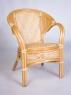Обеденный комплект CRUZO Гурзуф (стол +4 кресла) натуральный ротанг, медовый, ok0022