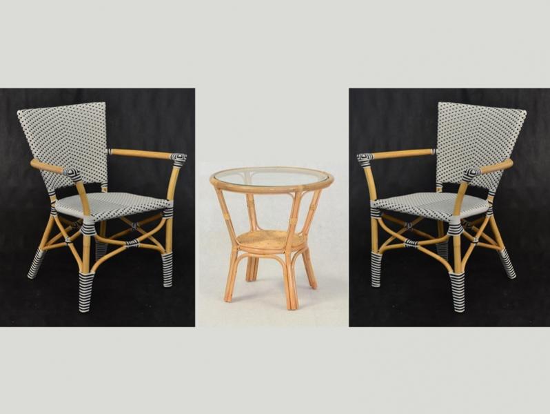 Кофейный комплект Марсель CRUZO натуральный ротанг k0910203