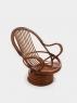 Кресло-качалка Юниверсал CRUZO натуральный ротанг коричневый kk0055