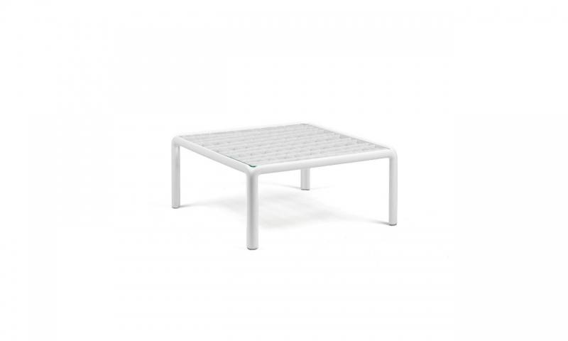 Кавовий столик Nardi Komodo Tavolino Vetro Bianco 40368.00.501