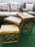 Комплект столиков Трио CRUZO натуральный ротанг ореховый ks0014121