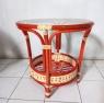 Кавовий комплект меблів Ява Тераса Сет для балкону з натурального ротангу 2 крісла і кавовий столик колір коньяк kt290420
