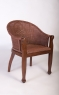 Кофейный комплект CRUZO Калипсо (столик +2 кресла) красное дерево / натуральный ротанг коричневый ok0007
