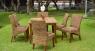 Обеденный комплект Касабланка CRUZO (стол и 6 стульев) абака коричневый ok00099