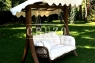 Качель садовая Катрин CRUZO натуральный ротанг / дерево, коричневый, ks0006