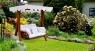 Гойдалка садова Катрін CRUZO натуральний ротанг / дерево, коричневий, ks0006
