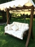 Качели садовые CRUZO Катрин натуральный ротанг / дерево коричневый ks0006