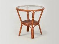 Кофейный столик Келек  CRUZO натуральный ротанг светло-коричневый kl0001