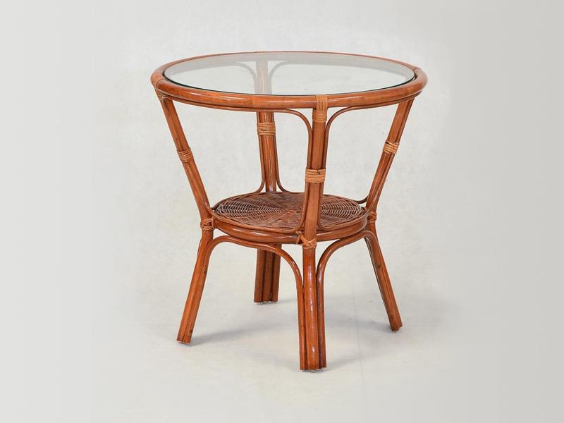 Кавовий столик Келек CRUZO натуральний ротанг світло-коричневий kl0001
