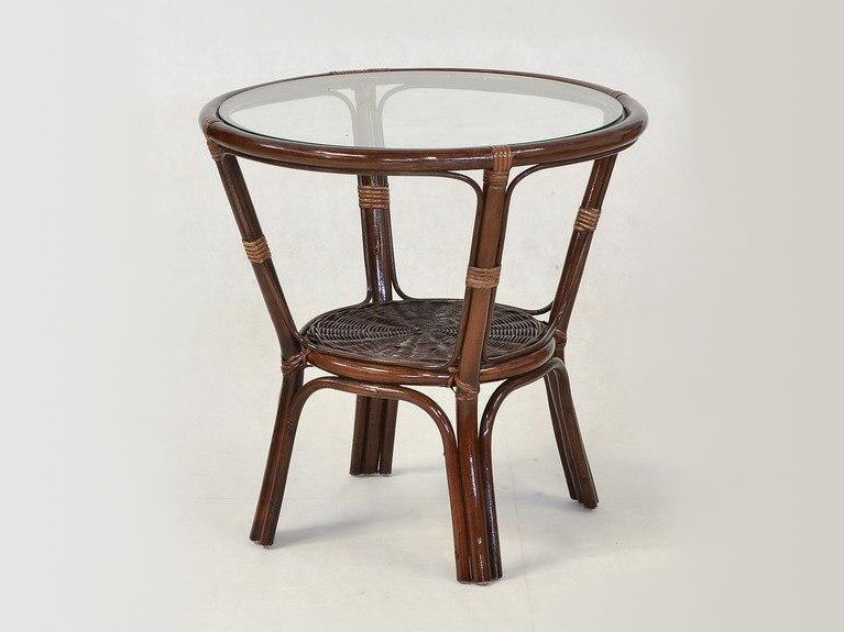 Кофейный столик Келек CRUZO натуральный ротанг темно-коричневый kl0003
