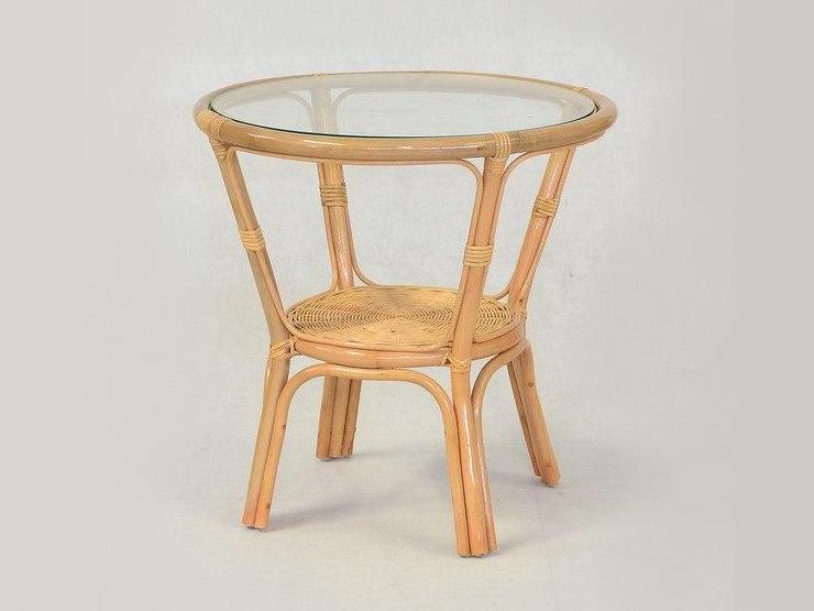 Кофейный столик Келек CRUZO натуральный ротанг, медовый, kl0002