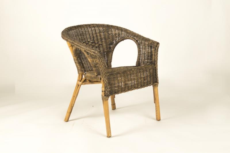 Кресло CRUZO Келек натуральный ротанг, светлый, искусственно состаренный, kr0012