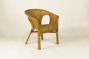 Кресло CRUZO Келек натуральный ротанг медовый kr0016