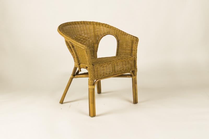 Кресло CRUZO Келек натуральный ротанг, медовый, kr0016