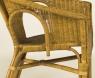 Кресло CRUZO Келек натуральный ротанг медовый kel0029