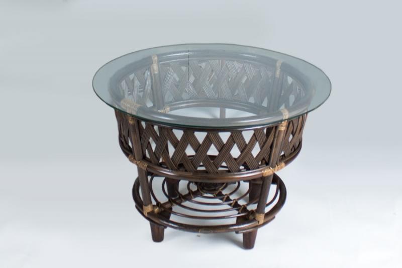 Кофейный столик CRUZO Копакабана натуральный ротанг, коричневый, st0009