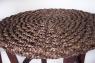 Кавовий комплект Кобра CRUZO (столик +2 крісла) дерево / водний гіацинт коричневий ok0023