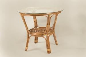 Кофейный столик CRUZO Келек натуральный ротанг медовый (st0002)