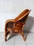 Комплект плетених меблів Копакабана Гіацинт з натурального ротангу софа, 2 крісла і столик горіхового кольору  CRUZO km27040