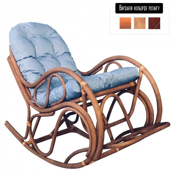 Кресло-качалка из натурального ротанга Раунд Cruzo™, kr0003