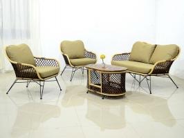 Плетений комплект меблів Латте Сет CRUZO натуральний ротанг коричневий km08207