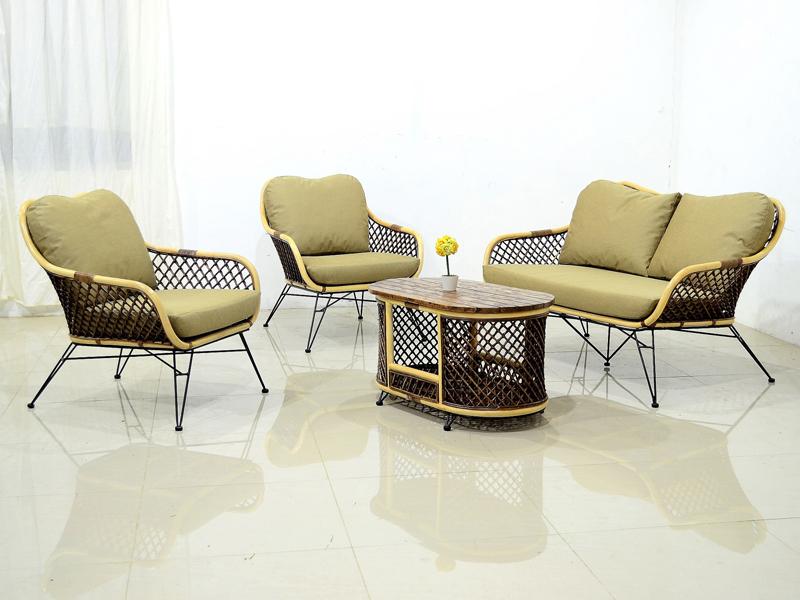 Плетеный комплект мебели Латте Сет CRUZO натуральный ротанг коричневый km08207