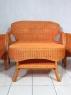 Комплект плетених меблів з натурального ротангу Лавеа софа, 2 крісла й кавовий столик світло-коричневий CRUZO km50521
