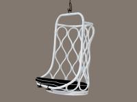 Подвесное кресло-качель Лилия-2 CRUZO натуральный ротанг, белый, kr08217