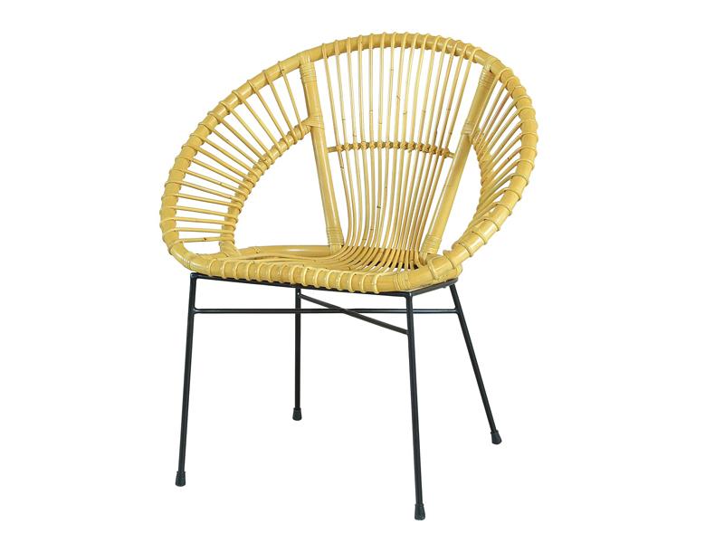 Плетеный стул Луна CRUZO натуральный ротанг, медовый, kr08206