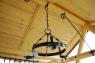 Беседка садовая с качающейся платформой CRUZO, с коваными элементами декора / скандинавская сосна, ks0005