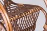 Кресло-качалка CRUZO Маки натуральный ротанг ореховый  kk0009