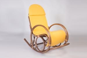 Крісло-гойдалка CRUZO Маки натуральний ротанг, горіховий, kk0009