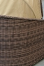 Диван CRUZO Марине искусственный ротанг коричневый d0002