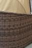 Диван Марине CRUZO искусственный ротанг коричневый d0002