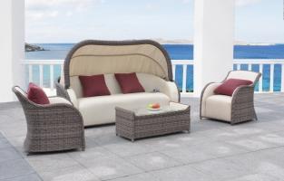 Комплект мебели Марине CRUZO искусственный ротанг, коричневый, d00020