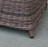 Диван Марине CRUZO штучний ротанг, коричневий, d0002