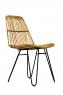 Плетений стілець Коста з натурального ротангу на металевій основі CRUZO sk10861